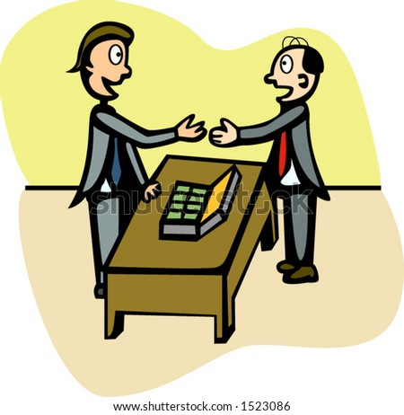 two businessman negotiating