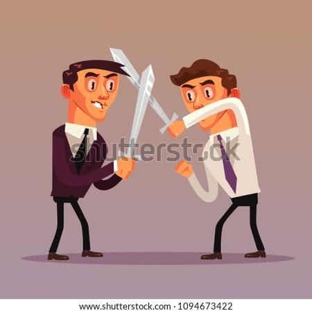 two businessman office worker