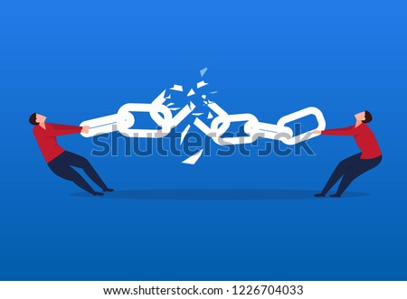 two businessmen broke the chain