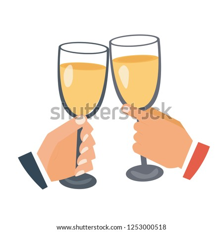 Two businessmen clanging glasses of alcoholic beverage together bar counter or pub. meeting