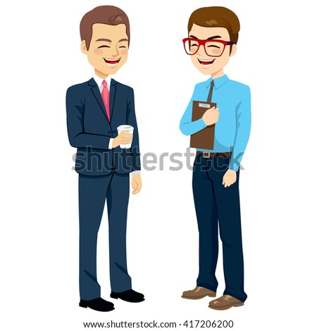 two businessmen standing