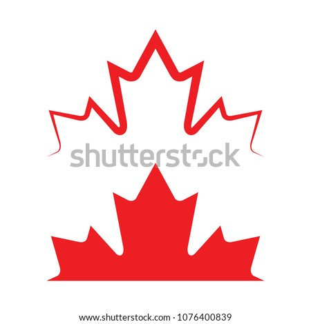 two canadian maple leaves in