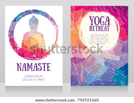 two cards for yoga studio with