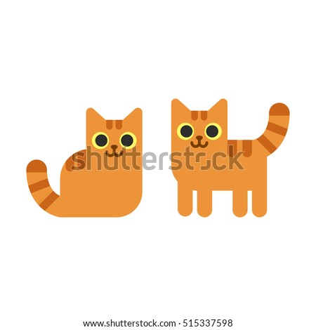 two cartoon ginger cats