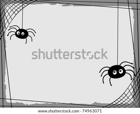 two cartoon spiders spinning a