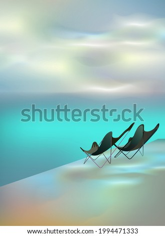 two chairs on the pier by the
