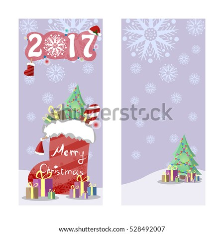 two christmas banners in retro