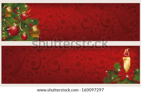 two christmas winter banners