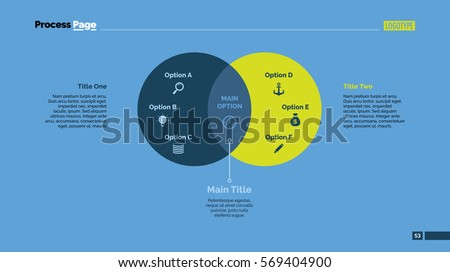 two circles venn diagram slide