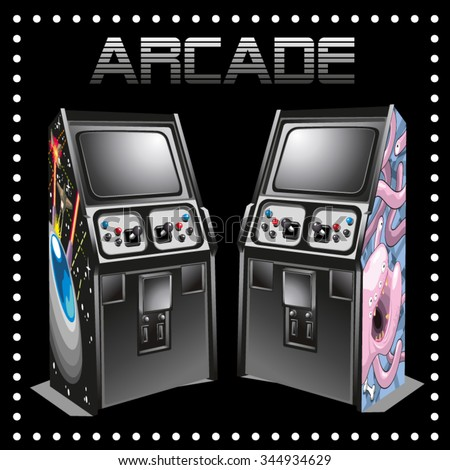 two classic arcade machines
