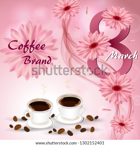 two coffee mugs on a background