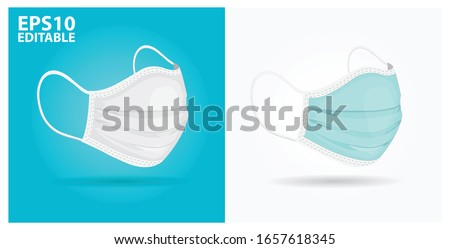 two color medical masks in
