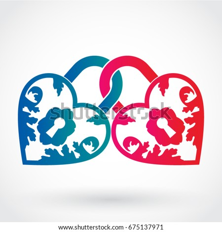 two color ornamental heart