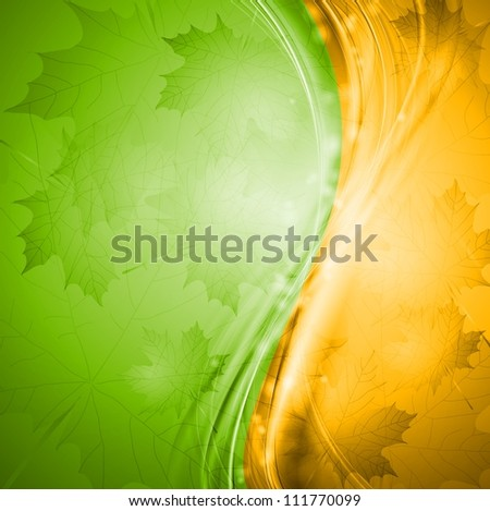two colored autumn background