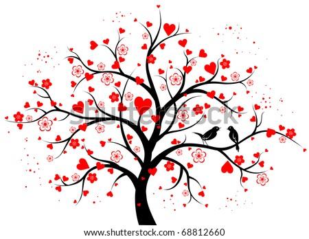 two colored decorative tree