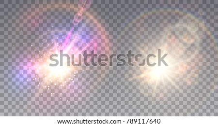 two colorful explosions on