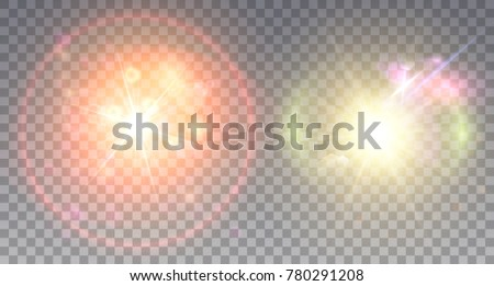 two colorful lens flare effects