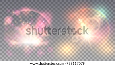 two colorful light effects with