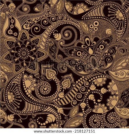two colors paisley pattern