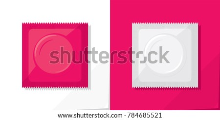 two condom plastic packages