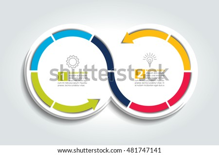 Free vector circle business concept download free vector art two connected arrow circles infographic element ccuart Image collections