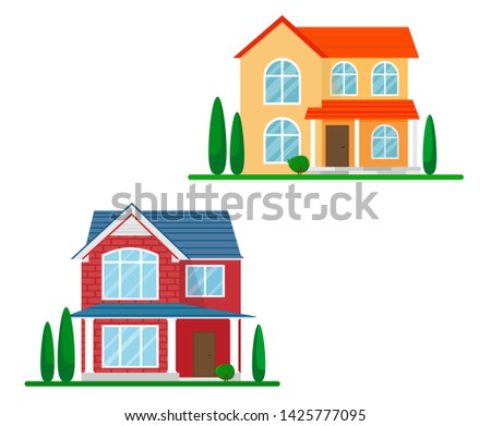 two cottages or country houses