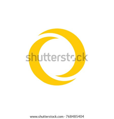 two crescent moon circle symbol