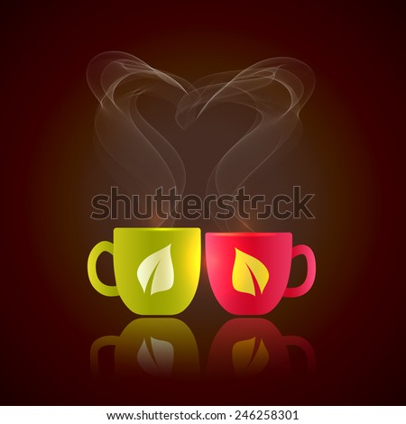two cups of tea stand together