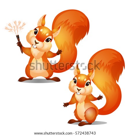 two cute animated squirrels