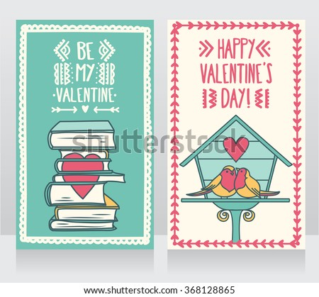 two cute cards for valentines