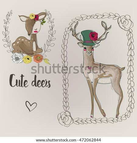 two cute deers