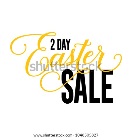 two day easter sale lettering
