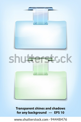 Two different colored glossy tags for your text. Vector file.