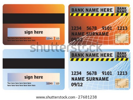 credit cards designs. credit card designs