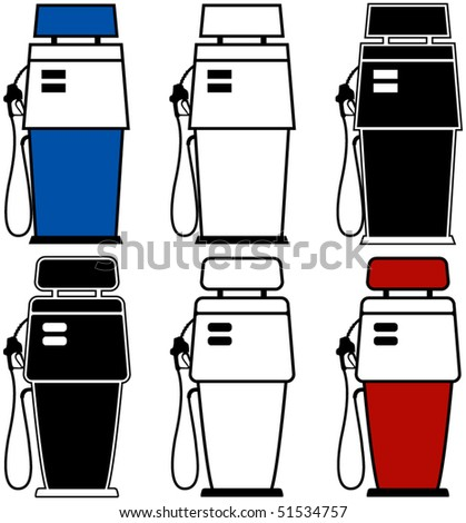 two different gas pumps with