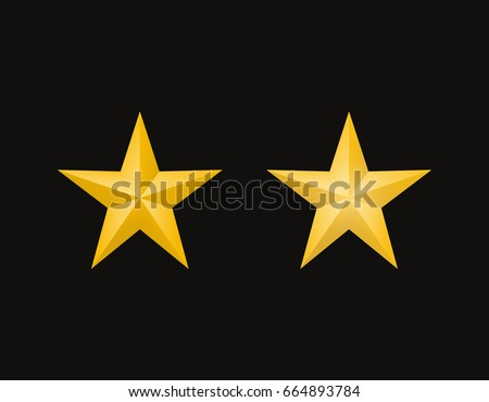 two different gold stars