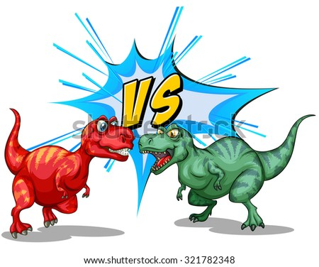 two dinosaurs fighting each