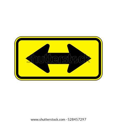 two direction  a road sign with