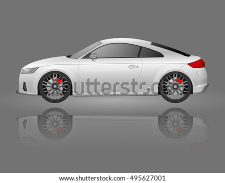 two door coupe sports car