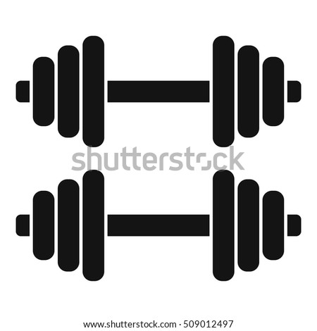 Two dumbbells icon. Simple illustration of two dumbbells vector icon for web