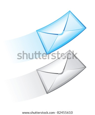 Two e-mail vector icon.