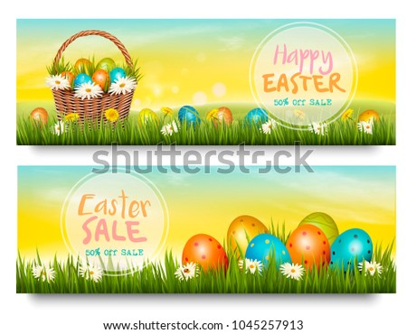 two easter sale banners