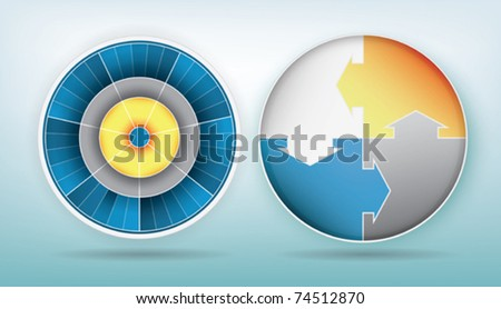 two elegant circle diagram design