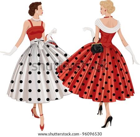 two elegant women the brunette