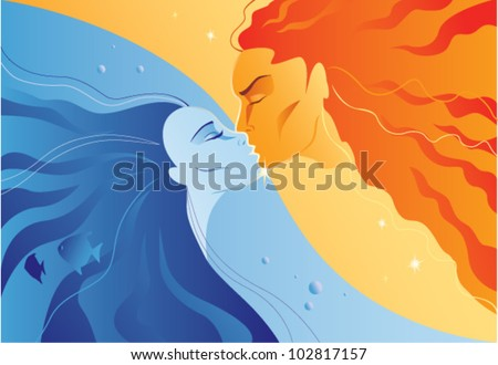 two elements  fire and water