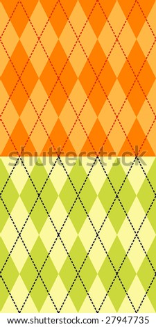 Two fashionable colored seamless argyle patterns