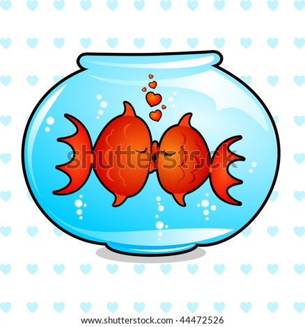 two fish in a bowl of water
