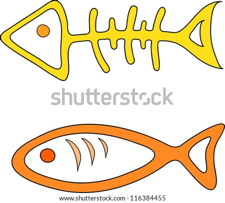 two fish symbol vector illustration