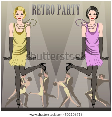 two flapper girls dancing the