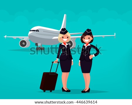 two flight attendants against